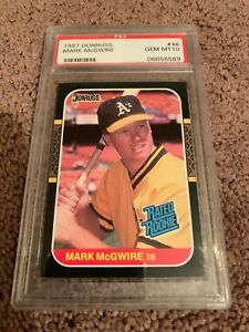 1987 Donruss Mark McGwire Rookie Card RC - PSA 10 Gem Mint!