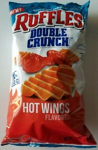 NEW Ruffles Double Crunch Hot Wings Flavored Chips 1 Bag FREE WORLDWIDE SHIPPING