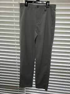Under Armour Boys Youth Match Play Golf Pants Steel Gray Grey 1290353 NWT $65