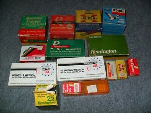 VINTAGE AMMO BOXES lot of 14 *WinchesterRemingtonFederal* Good condition!