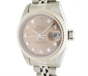 Rolex Watch Datejust Ladies 79174 G White Gold Stainless Steel Pink Dial Plate