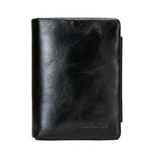 Genuine leather men wallet with coin pocket