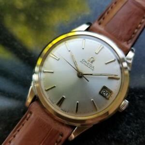 OMEGA Men's 10K Gold-Capped cal.560 Automatic wDate c.1960s Swiss Vintage LV400