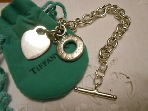 Tiffany & Co Sterling Silver Blank Engravable Heart Tag Toggle Bracelet