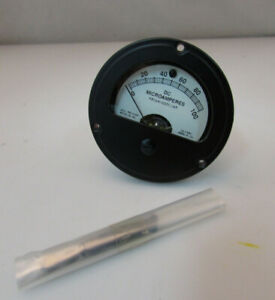 Ideal Precision Meter Ammeter 26 5480 Aircraft 0 100 microamperes C $49.99