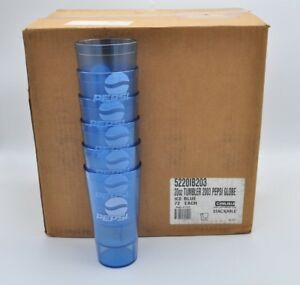 Pepsi Restaurant Tumblers Ice Blue Cups 20 oz Carlisle 5220 Commercial x 72 Case