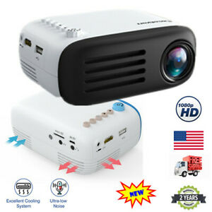 Excelvan YG200 Mini Portable 1080P LCD Home Theater Projector HDMI USB AV 16:9