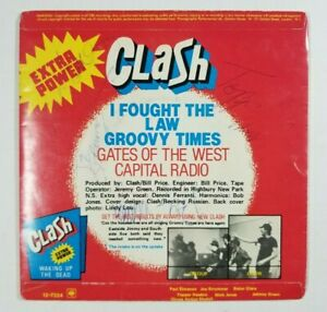 THE CLASH The Cost Of Living 45 S CBS 7324 UK 1979 VG SIGNED BY ALL 4 W INNER B6