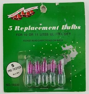 10 PIECE LOT REPLACEMENT CHRISTMAS STRING LIGHT BULBS VIOLET COLOR GREEN BASE