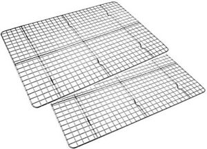 Checkered Chef Cooling Baking Stainless Steel Rack Half Sheet Cookie Pan 2PK