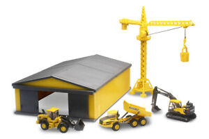 MACHINE SHED SET 1:64 *VOLVO* EC140 EXCAVATOR A25G Dump Truck L60H Wheel Loader