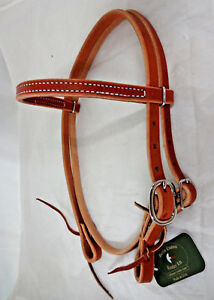 Pony Harness Leather Headstall Western Small Horse Tack Berlin Water Ties New $29.99