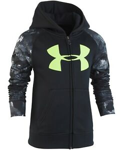 Under Armour Little Boys Bedrock Camo Zip Up Hoodie Size 4 Color Black $24.76