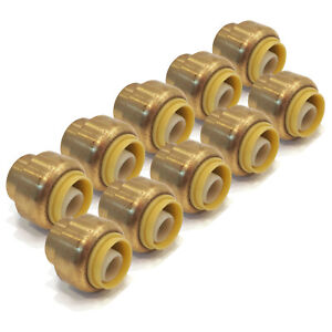 10 New 1 2quot; SharkBite Style LEAD FREE BRASS CAPS Fitting replace Nibco PX20500
