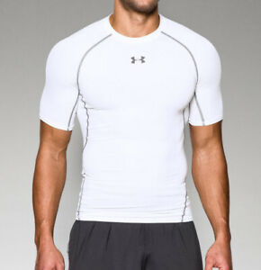 Under Armour Men's HeatGear Armour Short Sleeve Compression Shirt 1257468 White $24.90