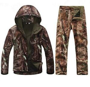 New Men Hunting Camouflage Clothing Waterproof Windproof Hooded Jacket amp; Pants R