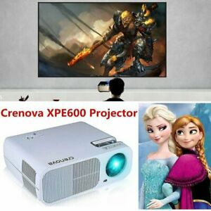 Crenova Full HD 1080P LED Projector Projection HDMI USB VGA TV Home School Movie