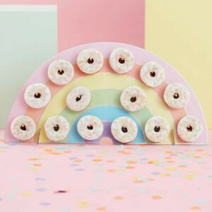Rainbow Donut Doughnut Wall Birthday Party Wedding Favour Table Stand