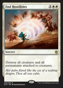 x1 End Hostilities MTG Khans of Tarkir R M/NM, English