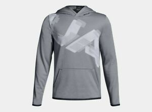 Under Armour Armour Fleece Highlight Printed Boys' Hoodie Size YSM JP CH Steel $24.76
