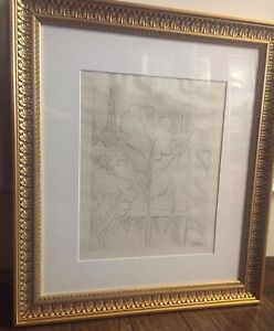 Henri Matisse Etching Notre Dame Signed In Plate $400.00