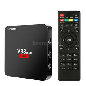 SCISHION V88 mini Android TV Box Rockchip 3229 QuadCore H.265 1G8G WiFi HD C8Q2