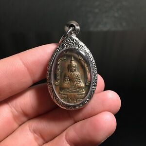Phra Keaw Thai Buddha Amulet Talisman Charm Fetish Luck Love Rich Protected