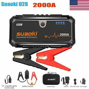 2000A Peak 12V Cars Vehicle Jump Starter Booster USB Power Bank Battery Charger