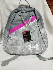 UA Favorite Under Armour Backpack Storm Pink Gray Camo 15