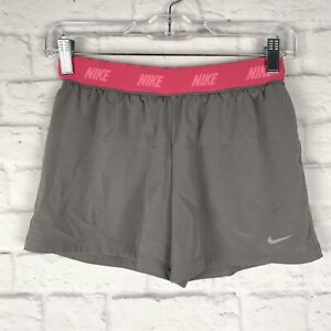 Nike Dri-Fit Girls Gray Sz Large Athletic Running Lounge Built In Spandex Shorts