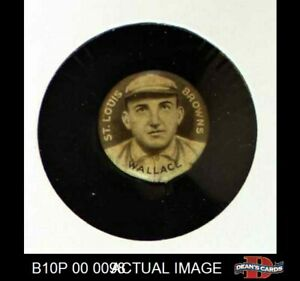 1910 Sweet Caporal Pins Bobby Wallace Cap Small Letters Browns EX