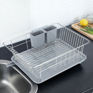 Stainless Steel Kitchen Single-Layer Drainage Rack With Drainage Board Dish Rack