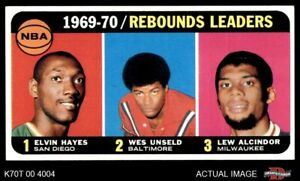 1970 Topps #5 Lew Alcindor  Wes Unsel Rockets  Bullets (Wizards)  Bucks EXMT