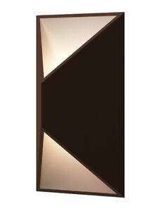 Sonneman 7100.72-WL Prisma Collection LED Wall Sconce Textured Bronze  CLOSEOUT