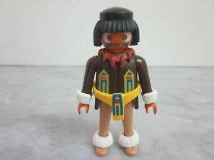 PLAYMOBIL Figure N519 Native American Indian Warrior - Claw Necklace - Moccasins
