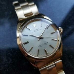 ROLEX Men's Oyster Perpetual 1024 14K Gold Capped Automatic c.1967 Swiss MA124