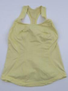 Lululemon Yellow Cardio Kick Tank Womens 8 Yoga Shirt Gym Racerback Running Cute