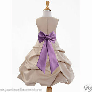 CHAMPAGNE WINE FLOWER GIRL DRESS PICK-UP 2 2T 3 3T 4 4T 5T 6 6X 8 10 12 14 15 16