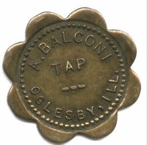 A. BALCONI  TAP  OGLESBY ILL. * SCALLOPS * UN IQUE ? * NOT IN ON LINE CATALOG