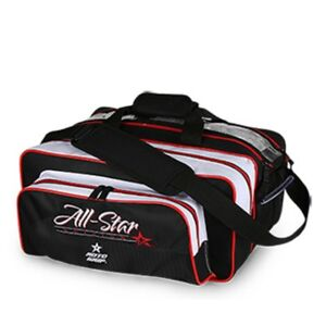 Roto Grip 2 Ball Tote Bowling Bag with shoe pocket Color Black/White/Red