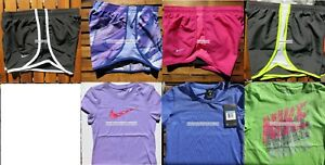 GIRLS NIKE ~ SIZE SMALL ~ NIKE TEMPO RUNNING SHORTS ~ T-SHIRTS ~ 7pc ~NEW $182