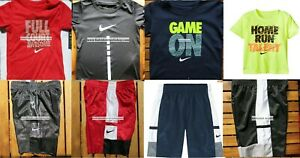 NIKE BOYS 3T  SUMMER BASKETBALL SHORTS ~ DRI-FIT TOPS ~AUTHENTIC~ RED BLUE BLACK