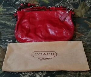 Coach Red Patent Leather Soho collection Hobo Handbag D1173-Z18382 E4