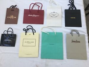 Designer Store Paper ShoppingGift Bags (8) Eight NEW