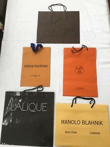Designer Store VERY High End Paper Shopping  Gift Bags FIVE (5)