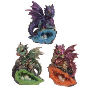 Baby Crystal Cave Cute Dragon Figurine Collectable Ornament Gift Gothic Fantasy