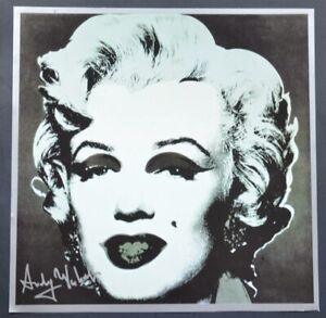 "Andy Warhol ""Marilyn Monroe"" black background.  Hand Signed by Warhol COA."