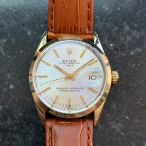 ROLEX Men's ref.1550 Oyster Date Gold-Capped Automatic c.1973 Swiss LV713brn2