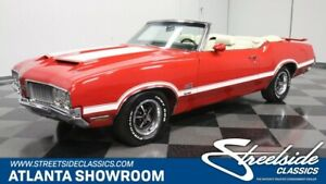 1970 442 W-30 Convertible classic vintage chrome convertible 455 v8 442 w30 red olds