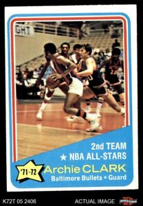 1972 Topps #170 Archie Clark  - NBA All-Star - 2nd Team Bullets (Wizards) EX